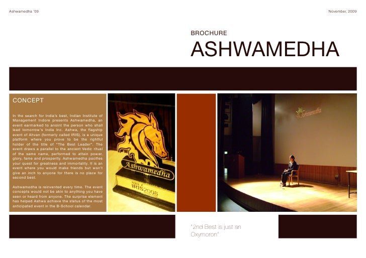 Ashwamedha '09                                                                November, 2009                              ...