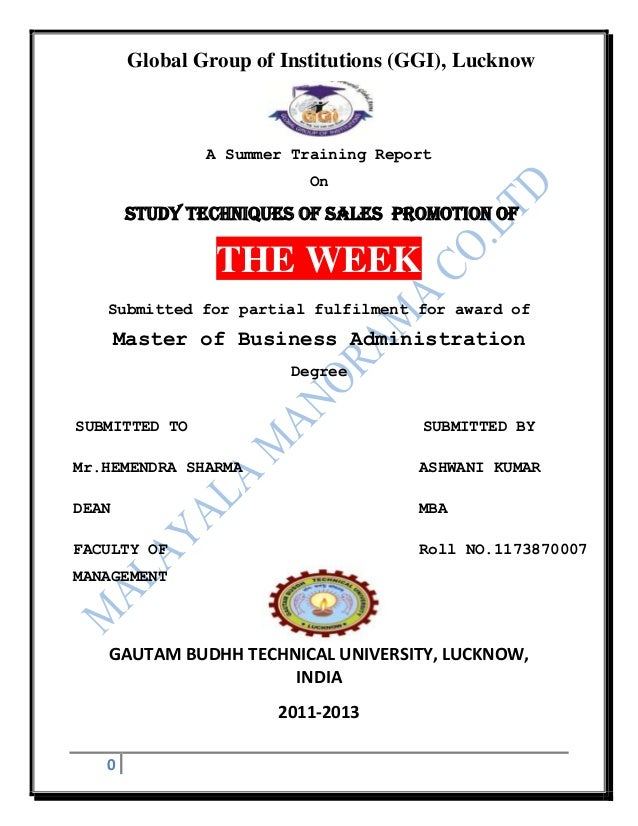 Global Group of Institutions (GGI), Lucknow                A Summer Training Report                           On       STU...