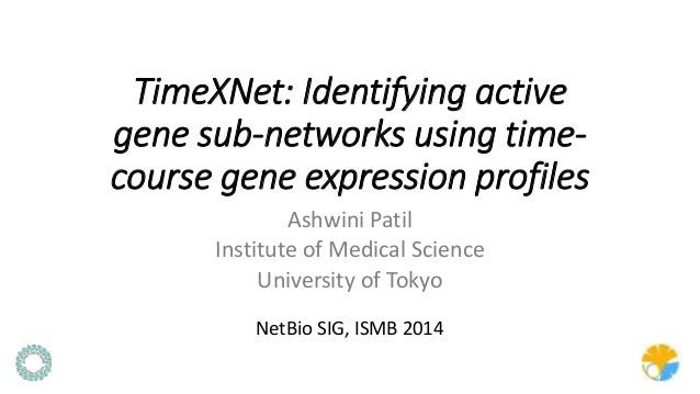 TimeXNet: Identifying active gene sub-networks using time- course gene expression profiles Ashwini Patil Institute of Medi...