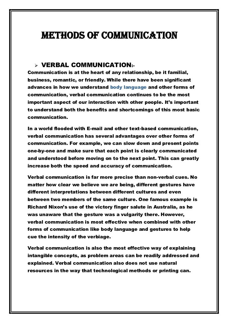 report on communication Communication reports issn 0893-4215 the western states communication association is publisher of communication reports as.