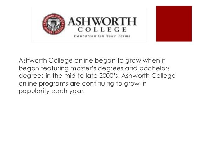 Ashworth College 54
