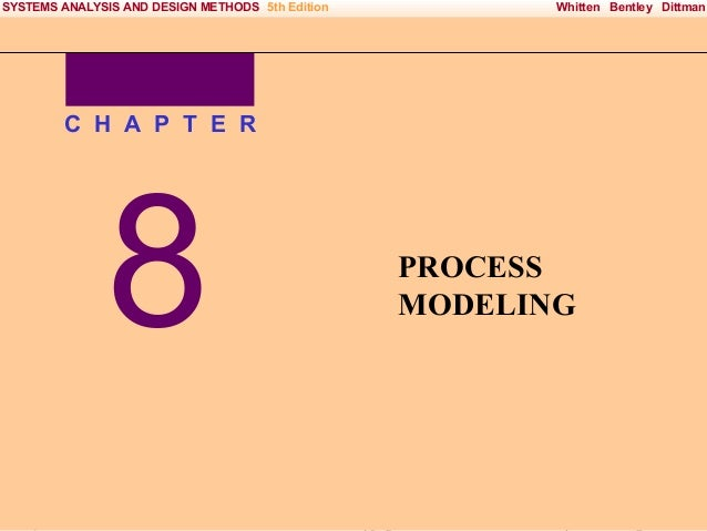 SYSTEMS ANALYSIS AND DESIGN METHODS 5th Edition  Whitten Bentley Dittman  C H A P T E R  8 Irwin/McGraw-Hill  PROCESS MODE...
