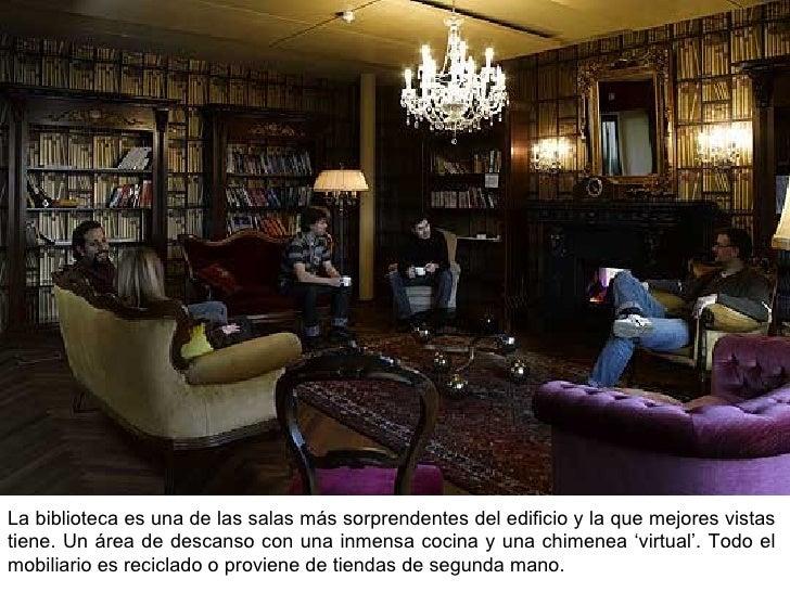 La biblioteca es una de las salas más sorprendentes del edificio y la que mejores vistas tiene. Un área de descanso con un...