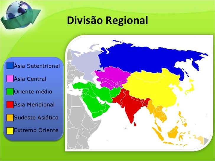 Resultado de imagem para mapa da divisão regional da ásia