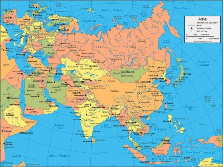 Map Of Asia Khand.Asia
