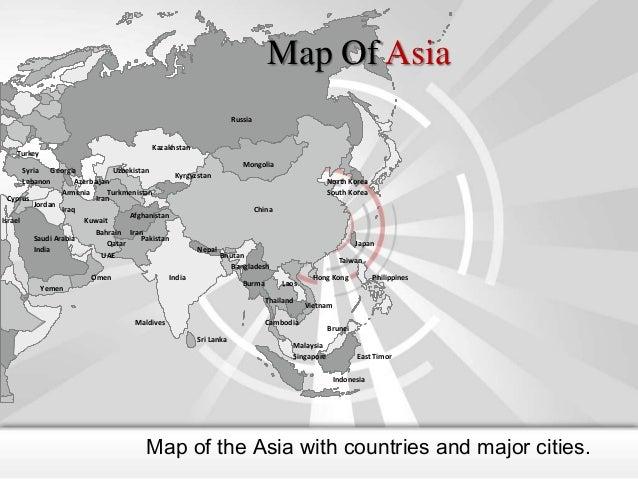 Map Of Asia Russia  Turkey  Kazakhstan  Mongolia Syria Georgia Uzbekistan Kyrgyzstan Lebanon Azerbaijan Armenia Turkmenist...
