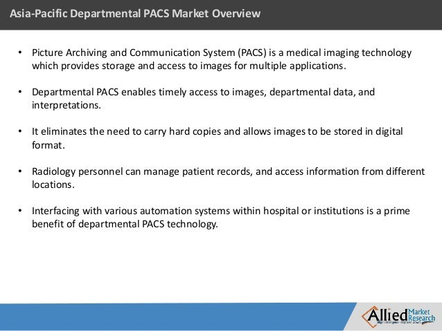 Picture archiving and communication systems market