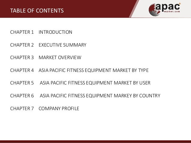 Asia pacific fitness equipment market forecast 2014 2020 - The net a porter group asia pacific limited ...