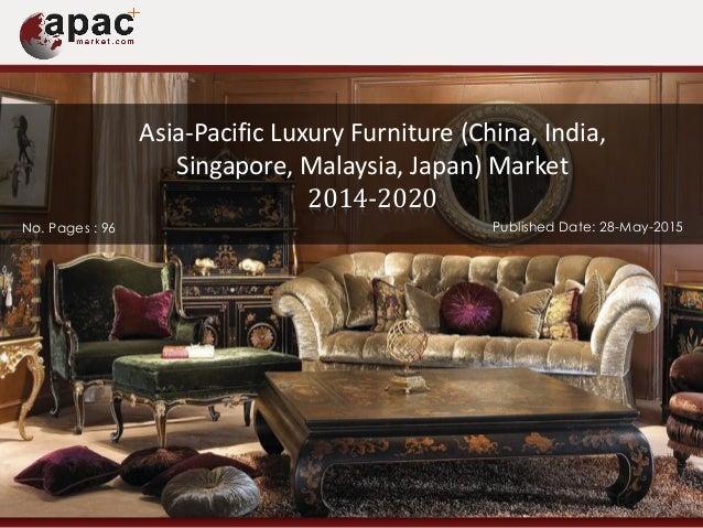 Asia Pacific Luxury Furniture Market Forecast 2014 2020