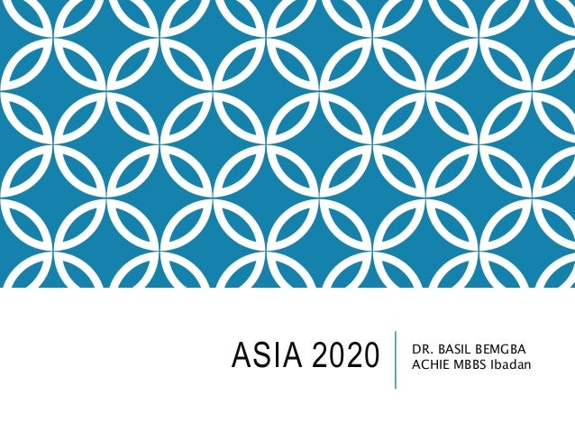 ASIA 2020 DR. BASIL BEMGBA ACHIE MBBS Ibadan