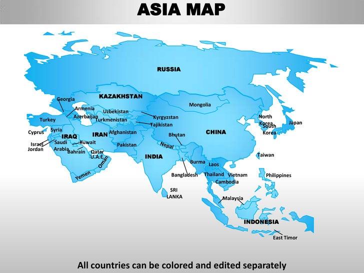 asia continent map - Captain.ciceros.co