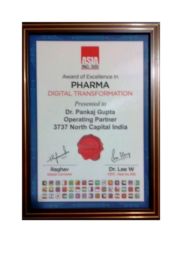 Asia inc 500 pharma digital transformation award