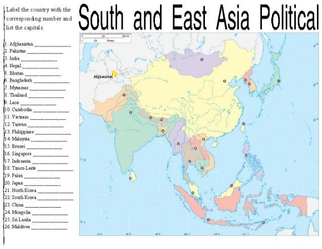 asia maps 1 so q 2 label the country