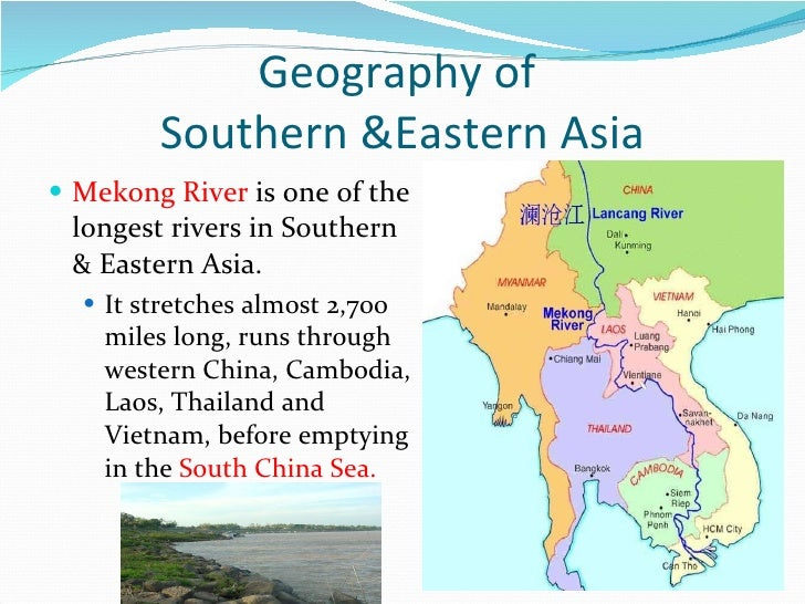 geography of southern eastern asia
