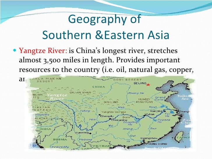Map Of East Asia Yangtze River.Asia Map Study