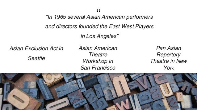 Asian american theatre workshop