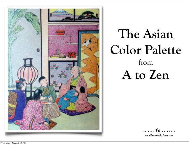Asian color palette from a to zen for Oriental colour palette
