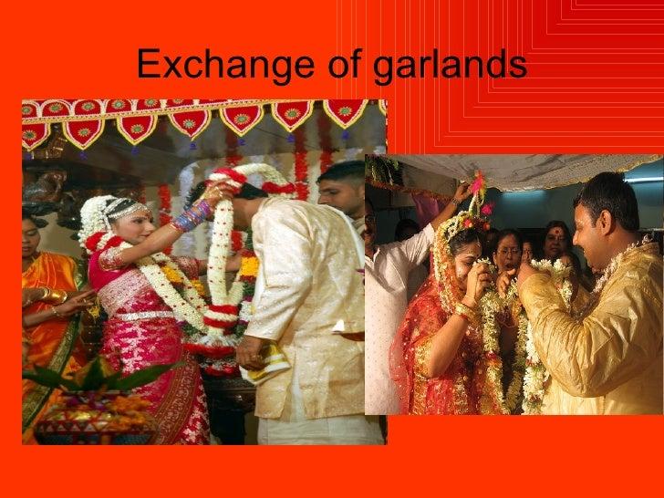 Exchange of garlands