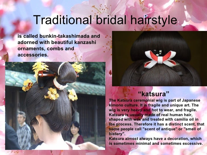 """Traditional bridal hairstyle """" katsura"""" The Katsura ceremonial wig is part of Japanese kimono culture. It is fragile and..."""