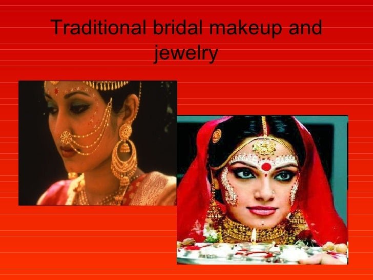 Traditional bridal makeup and jewelry