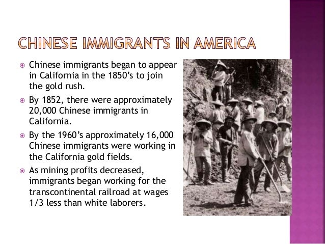 asian immigrants at gold fields and The first recorded immigrants from china  the story of chinese immigration to canada  in professional or managerial fields is higher than that of other.