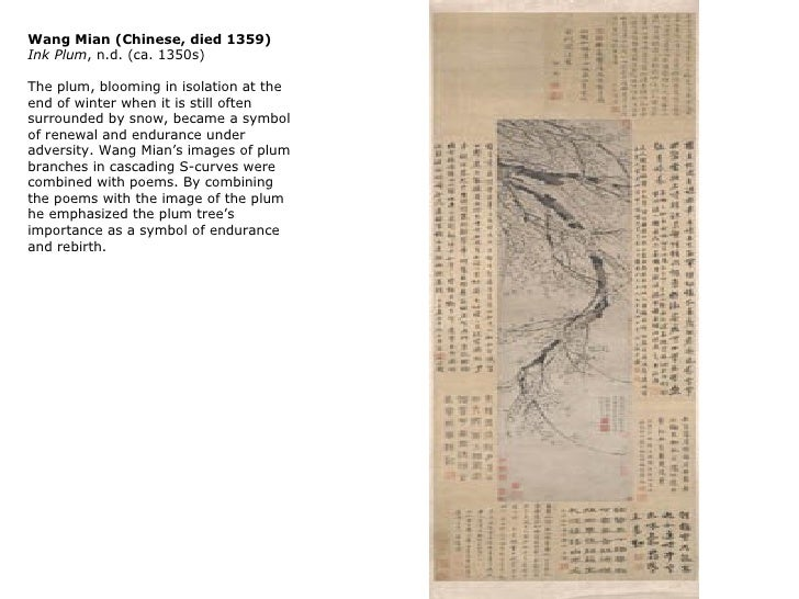 Wang Mian (Chinese, died 1359)Ink Plum, n.d. (ca. 1350s)The plum, blooming in isolation at theend of winter when it is sti...