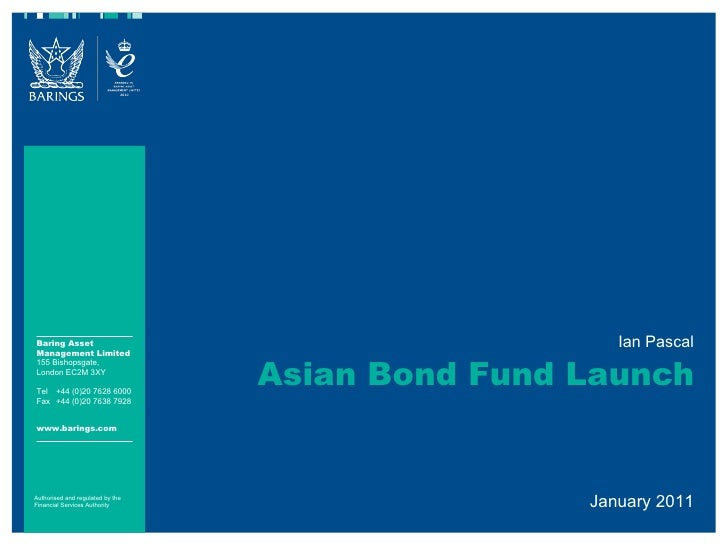 Ian Pascal Asian Bond Fund Launch