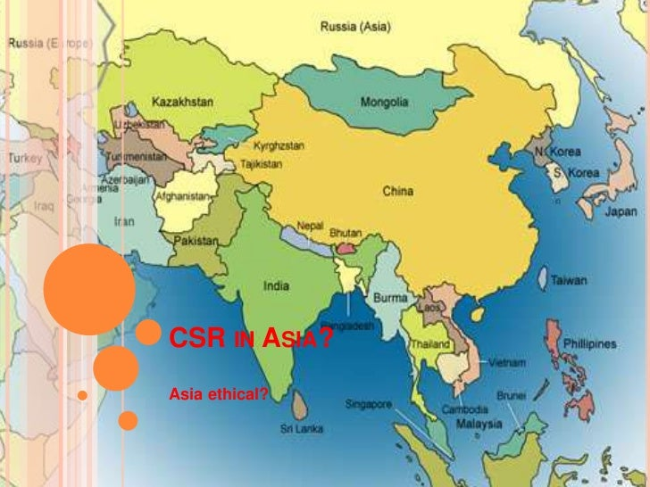 CSR in Asia?<br />Asia ethical?<br />
