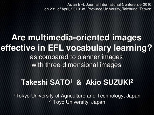 asian efl journal thesis Master's thesis advising effects of electronic portfolios on efl oral performance asian efl journal, 12 paper presented at asian efl international.