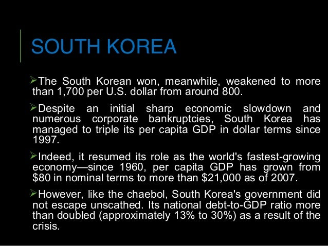 an overview of the asian financial crisis of 1997 产量比1997年增加了2倍 the output has increased 3 times  东亚金融危机 the southeast asian financial crisis (turmoil.