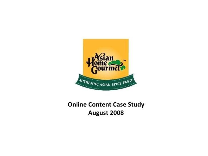 Online Content Case Study August 2008