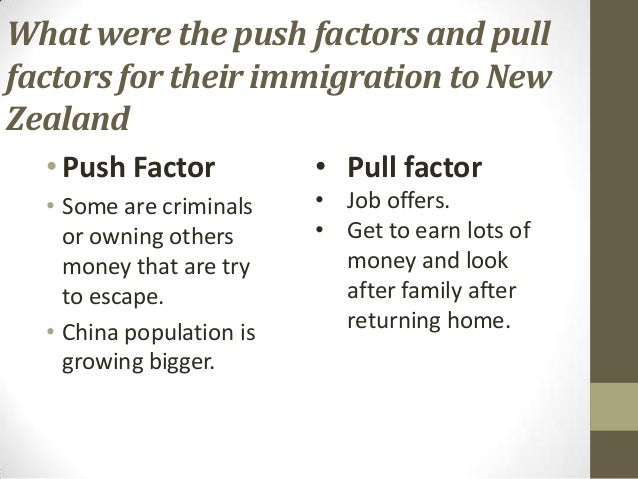 push and pull factors for immigration to new zealand Push and pull factors in immigration - duration:  is new zealand for you - duration:  migration sherwin williams animated commercial .