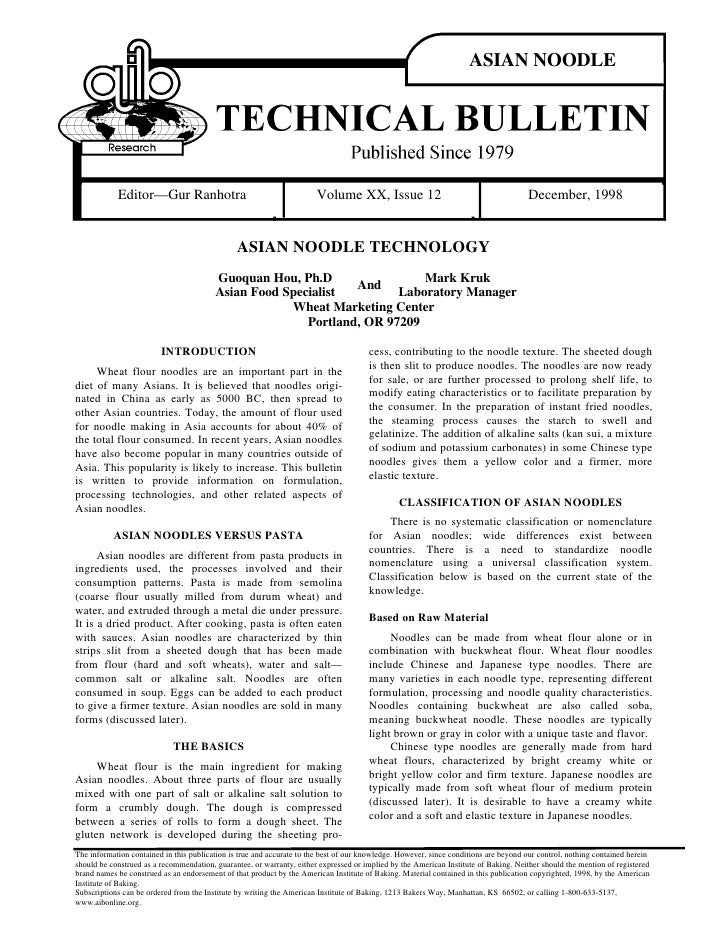 ASIAN NOODLE            Editor—Gur Ranhotra                                        Volume XX, Issue 12                    ...