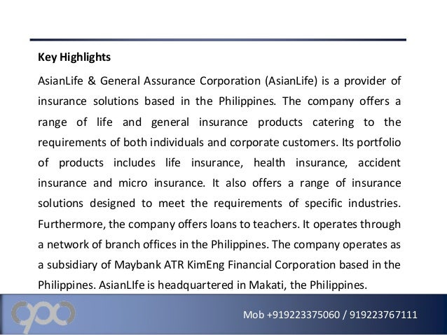 Asian life and general assurance corporation galleries 135