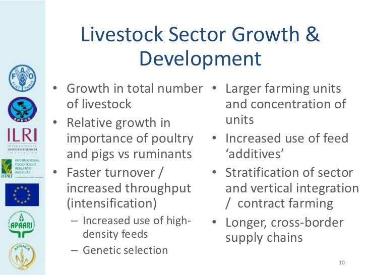 Livestock Sector Growth &           Development• Growth in total number • Larger farming units  of livestock              ...