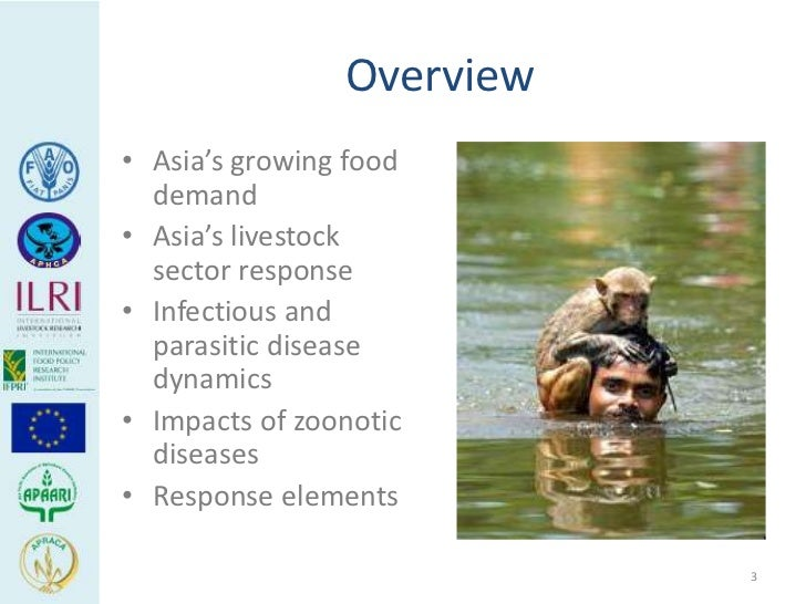 Overview• Asia's growing food  demand• Asia's livestock  sector response• Infectious and  parasitic disease  dynamics• Imp...