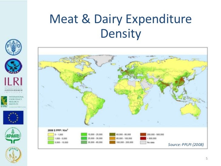 Meat & Dairy Expenditure        Density                    Source: PPLPI (2008)                                           5