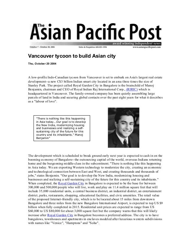Asian post vancouver