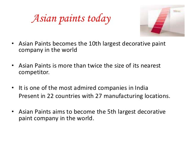 Asian paints moa