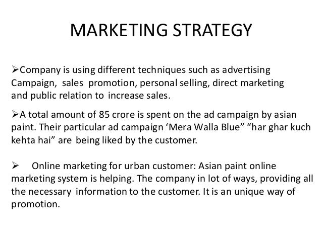 differentiation strategy of asian paints Asian paints 3 hll 4 nike shoes 5 apple computers 6 mercedes benz  automobiles example of companies in india applying differentiation strategy.