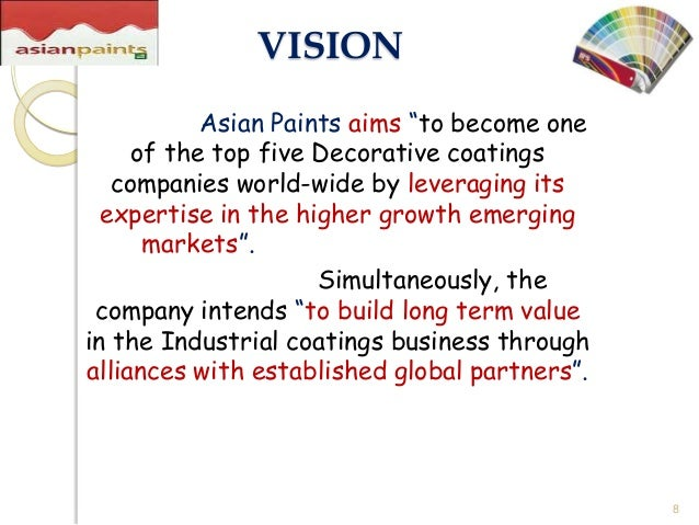 asian paints ltd Asian paints ltd is india's largest paint company and asia's third largest paint company the company, along with their subsidiaries, has operations in 22 countries globally with 27 paint manufacturing facilities servicing consumers in 65 countries through berger international, scib paints, apco coatings and taubmans.