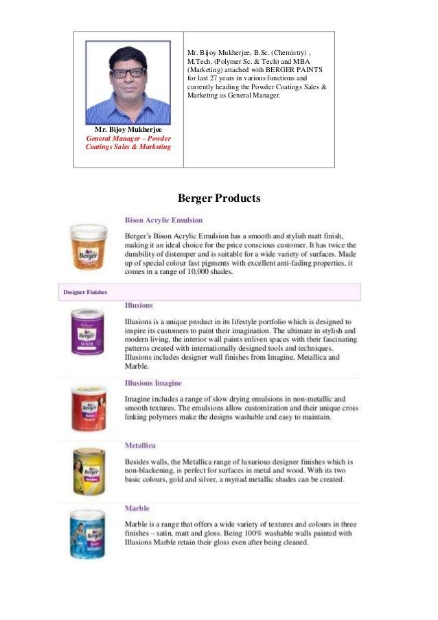 Mr. Bijoy Mukherjee General Manager – Powder Coatings Sales & Marketing Mr. Bijoy Mukherjee, B.Sc. (Chemistry) , M.Tech. (...