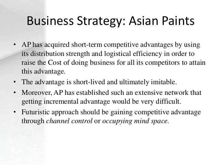 Asian Paints Distribution Strategies