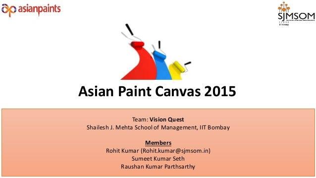 Team: Vision Quest Shailesh J. Mehta School of Management, IIT Bombay Members Rohit Kumar (Rohit.kumar@sjmsom.in) Sumeet K...
