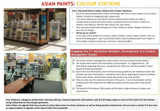 ASIAN PAINTS: COLOUR STATIONS                                                                       Free, Personal Home Co...