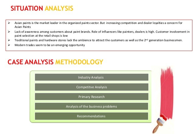 SITUATION ANALYSIS    Asian paints is the market leader in the organized paints sector. But increasing competition and de...