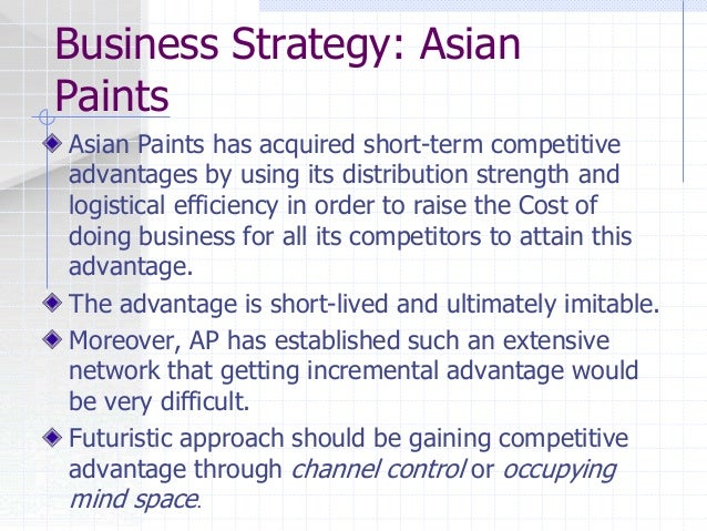 asian paints strategy ppt