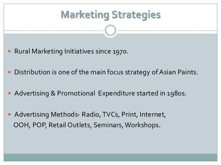 Asian paints marketing strategies