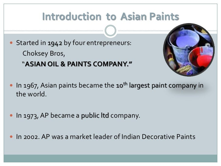 marketing strategy of asian paints ppt The section gives detailed corporate information on asian paints visit us today for more.