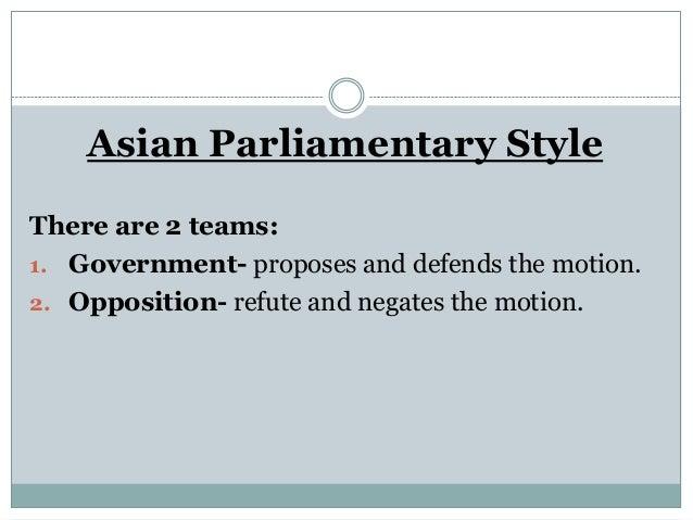 Asian parliamentary procedure